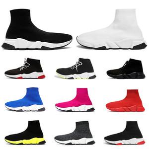2020 носок дизайнерская обувь для мужчин женщин роскошная мода скорость кроссовки тройной черный белый граффити ясно подошва старинные мужские тренер спортивная обувь