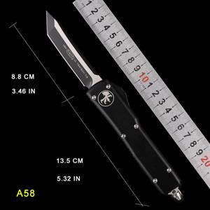 더 세련된 블레이드 AUTO MICRO - TECH UTX-85 자동 나이프 MT 나이프 CNC 액션 전술 커터 기어 나이프 접는 필렛 나이프
