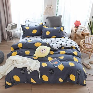 Hot Design Bedding Set Plant cactus happy time Duvet Cover Flat Sheet Pillowcase Quilt Cover Bed Set Full Queen King