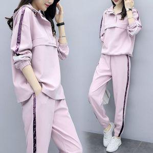 Plus Size Frauen Tracksuits Sportswear2 teiliges Set Top und Hosen Großhandel Kleidung Frauen Kleidung Sets Damen Tracksuits