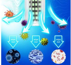Embalagem de Duas Lâmpadas UVC para desinfecção com lâmpadas de desinfecção LED, uma lâmpada germicida UV, 220V/ 110V E27 GU10 E14 E12 B22