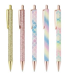 10 pz Penna di cristallo di diamante Penne a sfera Penna a sfera rifornimenti Caneta regalo della novità Ufficio Scolastico Materiale 1,0 millimetri