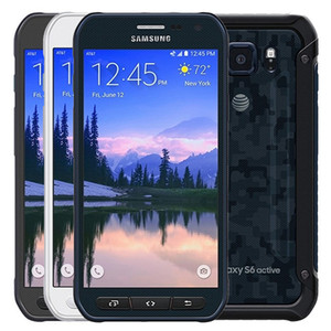 Original Samsung Galaxy S6 Ativo G890A 5,1 polegadas Octa Núcleo 3GB RAM 32GB ROM 16MP Outdoor Celular 4G LTE Desbloqueado Refurbished Telefone DHL 1PC