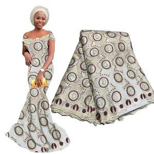 Dernières africaine dentelle Tissu 2019 français du Nigeria Dentelle de haute qualité maille dentelle en tissu épais perles pour femme Robe