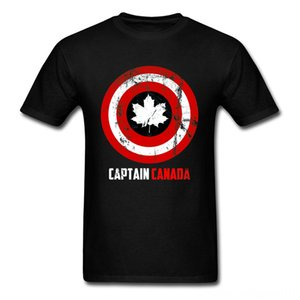 Captain Canada Retro T Shirt Men's Tees & Polos Men's Clothing Captain America Marvel Avengers 4 Endgame Craft Maple Men Tshirts Heroes Just