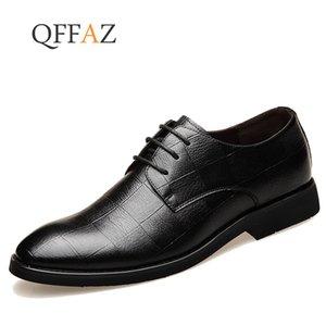 QFFAZ Neue 2019 Business Kleid Männer Formale Schuhe Hochzeit Spitz Mode Leder Schuhe Wohnungen Oxford Für Männer