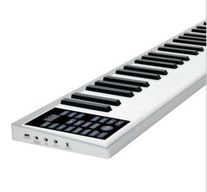 Portátil Intelligent Electronic Piano de 61 teclas órgão Eletrônico rolo da mão Ultra-fino Piano Multifuncional Eletrônico
