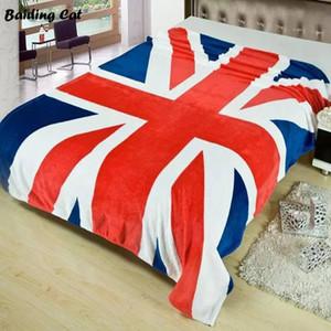 Nueva bandera de Union Jack Reino Unido británica Manta US Flag mantas de felpa Manta polar tiro de la cama en la cama / sofá / 150x200cm coches Canadá