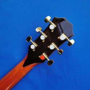 مخصص جديد الطبيعي Chaylor 916 الغيتار الصوتية، الأصابع الأبنوس الصلبة أعلى شجرة التنوب الغيتار، تطعيم أذن البحر حقيقية، وحرية الملاحة