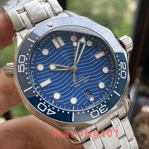 41.5mm Herren Keramik-Lünette Saphir Männer Co-Axial-Profi 300 m James Bond 007 automatische mechanische Uhrwerk Uhren Uhr Armbanduhr