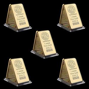 5pcs Swizerland 1 oz Argor-Heraeus Sa barra plateada oro Inicio artesanales adornos de negocios Regalo de colección