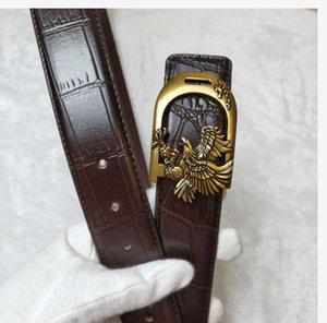 Designer Belt for Man Woman Belt Fashion eagle Smooth Buckle Belts Highly Quality Cowhide Black Brown Colors Optional F565