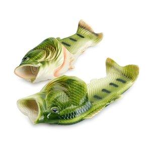 Zapatillas con forma de pescado Parte inferior plana de goma Sandalias informales de interior Zapatillas de playa al aire libre Zapatillas de diseñador para hombres y mujeres Envío gratuito