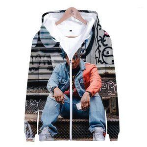3D Digital Print Mens Zipper Hooded Giacche Maschi Abbigliamento casual succo wrld Mens Designer Fashion giubbe