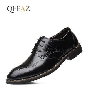 QFFAZ Hommes Robe Chaussures Mode Chaussures en cuir formelles hommes mariage Business Casual Oxford