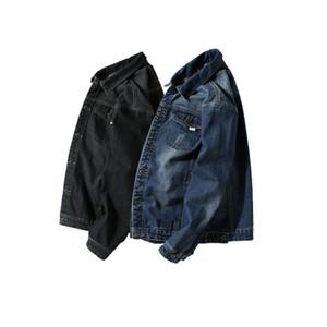 Designer Moda Masculina Wash Denim Jeans Camisa positiva do tamanho 7XL Outono mangas compridas Camisa Casual Slim Fit Denim Tops alta qualidade