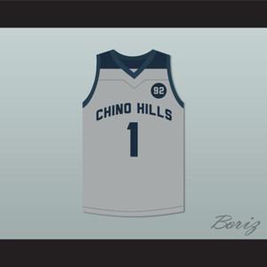 LaMelo Topu 1 Chino Hills Huskies Gri Basketbol Jersey 92 Puan-2 Herhangi Numarası Ücretsiz Kargo özel Herhangi Adı