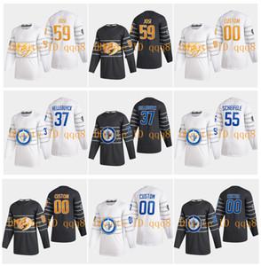2020 All Star Game Jersey Nashville Predators 59 romanas Josi Winnipeg Jets 37 Connor Hellebuyck 55 Mark Scheifele Grey Hockey Branco