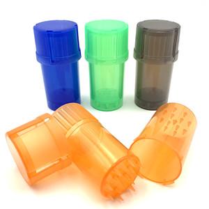 Günstige Kunststoff-Grinder Multifuntion Tabak Spice Crusher 42mm Durchmesser 3-teiligen Grinders Smoking Muller Cracker mit Container