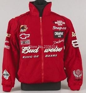 Budweiser Motorcycle Race Veste F1 Moto pour les hommes régulier Manteau long Leeved
