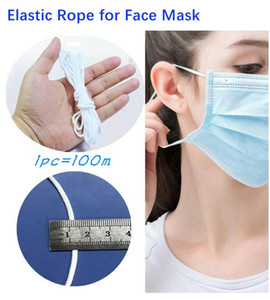Maschera elastica fascia corda maschera elastico nastro orecchio appeso corda rotonda elastica per Viso Maschera FAI DA TE Artigianato 100 pz=100 m