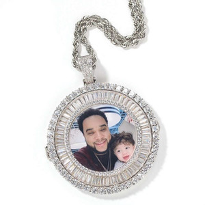iced out imagen personalizada collares pendientes hombres mujeres hip hop diseñador de lujo diamante personalizar foto colgantes pareja familia joyería amor regalo