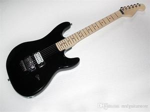 Body nero per chitarra elettrica personalizzato in fabbrica con hardware cromato, moto floyboard floydral può essere personalizzato.