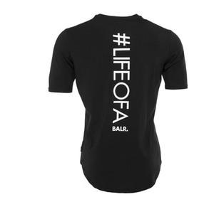 2019 Мужчины новый футболка balr Футболка Homme Cotton BALRED Топы Письмо Печать Одежда Фитнес Футболка Евро Размер футболки Slim Fit