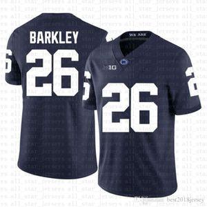 Penn State Nittany Lion 26 Saquon Barkley American Football Jersey 10 Tom Brady 97 Nick Bosa Trikots Blau