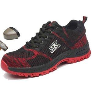 Zapatos Zapatos Zapatos de punta Boots men Seguridad en el Trabajo de acero transpirable protección en el trabajo de arranque puntura anti trabajar para los hombres zapatillas de deporte casuales