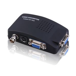 BNC для VGA Video Converter S-видео входа для ПК Выход VGA адаптер цифрового Switcher Box для PC TV камеры DVD DVR с кабелем постоянного тока