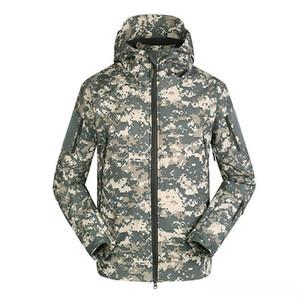 Chaqueta de camuflaje del ejército de paño grueso y suave de la nueva marca de Ropa de Hombre Otoño ejército táctico ropa de camuflaje Multicam masculinos Windbreakers