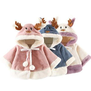 Kids Children Baby Girls Boys Clothes Christmas Costume Deer Hooded Cloak Cape Robe Coat Boys Girls Roupa Infantil Coat