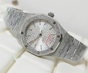 lusso 37 millimetri Offshore Bianco platino completa Diamond Dial 15451ST 67650ST Asia 2813 movimento meccanico automatico Mens Watch Wa