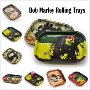 Bob Marley Rolling Tepsi Metal Bitkisel Rolling Tepsi Seyahat Boyu 18cm * 14cm * 1.5cm Handroller Herb Rulo Tepsileri Tezgahları Ücretsiz Kargo