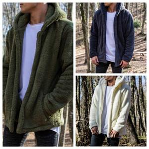 Mens 2019 Luxuxentwerfer Hoodies Doppelplüschjacke 19SS Winter-Designer Warm Hooded Zipper Jacken Männer Hoodies Taschen Hombres Mantel Outwear