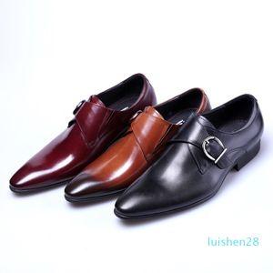 designer monk strap formal shoes men oxford shoes for men italian brand mens dress shoe calzado hombre erkek ayakkabi sapato masculino AS14