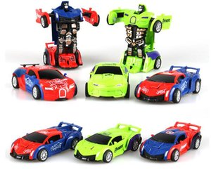 96pcs / lot gros Spider-man Captain America et la collision hulk jouet voiture en plastique et Deformation du robot Deformation cadeau pour les enfants