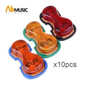 10PCS Yeanling gute Qualität Violine Viola Cello Rosin Violinform mit Plasic Box Blau / Grün / Schwarz