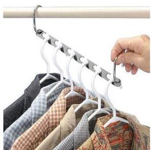 Magie Kleiderbügel hängende Kette Metall Edelstahl-Tuch-Schrank Aufhänger Shirts Ordentlich Platz sparen Organizer Kleiderbügel für Kleidung