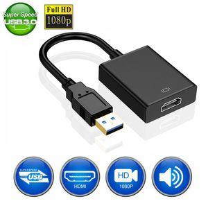 USB 3.0 için HDMI Ücretsiz Sürücü Kablo Kadın Audio Video Adaptörü Dönüştürücü Kablo Windows 7/8/10 PC Projektör Televizyon Bilgisayar