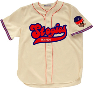 Custom Tampico Stogies 1957 Home Baseball Jersey Men Women Youth Any Name And Number Free Shipping Size S-4XL