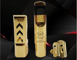 무료 배송 고급 Dokoff Sax 금속 마우스 피스 알토 테너 소프라노 업그레이드 된 버전 전문 마우스 피스