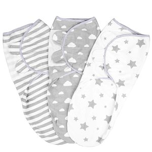 3pcs Pack of 3 Baby Swaddle Wrap Newborn Blanket 0-3 Months Organic Cotton Swaddles baby blankets newborn muslin swaddle strolle CX200704