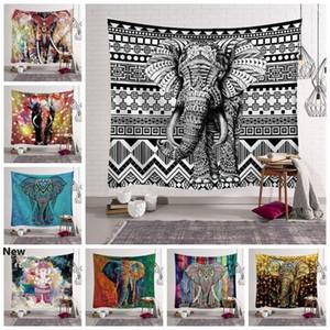 12 Styles Bohemian Mandala Tapestry Beach Towel Elephant Printed Yoga Mats Polyester Bath Towel Home Decoration Outdoor Pads CCA11528 30pcs