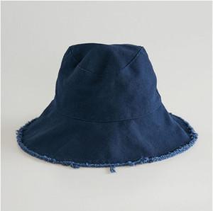30 قطعة في الكثير 2019 أزياء حار بيع القبعات دلو بالأسى جودة عالية عادي مصبوغ تهالك قبعة الصيد