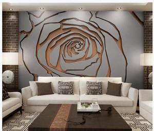 soggiorno moderno sfondi 3d metallo ferro battuto cuciture fiori astratti nuovo muro di fondo cinese