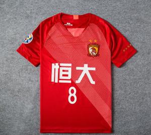 Al por mayor - Guangzhou Evergrande hogar jerseys rojos 2019 8 PAULINHO Guangzhou Evergrande Taobao camiseta de fútbol de fútbol 9 A.TALISCA unifo