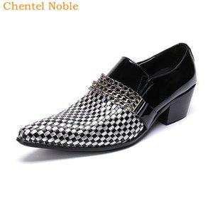 Manual de Chentel Noble Cavalheiro Preto e Branco manta da forma do vestido Mens Sapatos de couro genuíno Flats Sapatos Masculinos Big Size