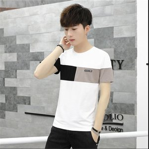 Herren Designer-T-Shirts Applikationen Panelled Tees Short Sleeve gestreifter Kleidung der Männer beiläufige Art und Weise mit Rundhalsausschnitt Tops